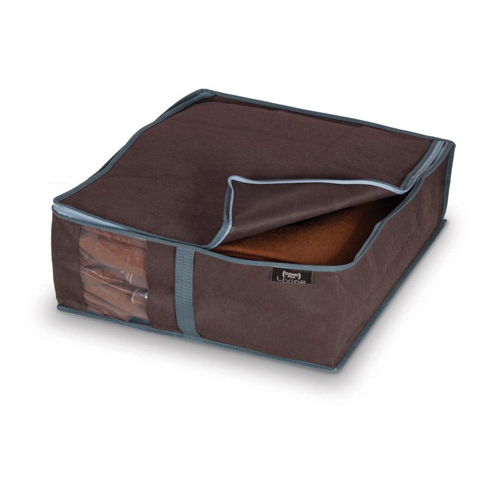Hnedý úložný box na bielizeň Domopak Living, 15 × 45 cm