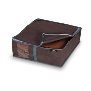 Hnedý úložný box na bielizeň Domopak Living, 15x45cm