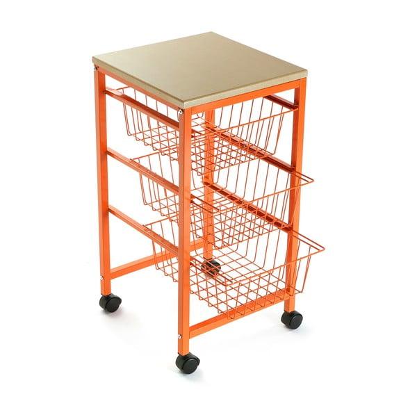 Pojazdná polica s košíkmi Versa Cocina Naranja