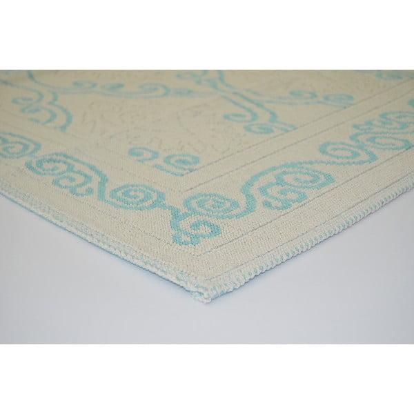 Modrý odolný koberec Vitaus Primrose, 80x200cm