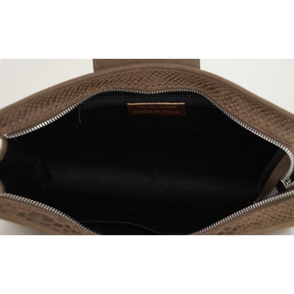 Kožená listová kabelka Bonnie Taupe