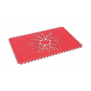 Červené vianočné prestieranie Villa d'Este XMAS Tovaglietta Rett Rossa Fiocco Di Neve, 45 × 30 cm