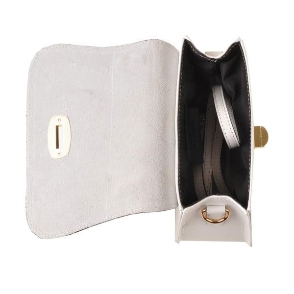 Kožená kabelka Flaux, biela