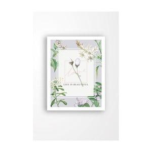 Nástenný obraz na plátne v bielom ráme Tablo Center Lovely, 29 × 24 cm
