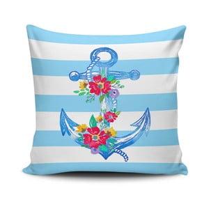 Vankúš s prímesou bavlny Cushion Love Navy Anchor, 45 × 45 cm
