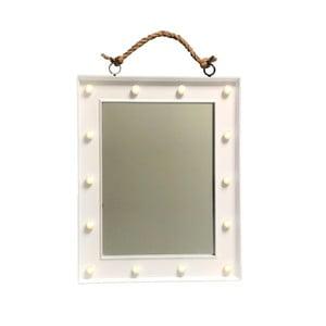 Závesné zrkadlo v bielom ráme Maiko Colgar