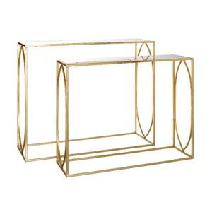 Set 2 konzolových stolíkov Mirror