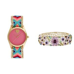 Dámske hodinky s ružovým ciferníkom Manoush Exotic