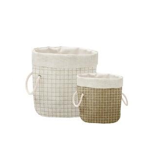 Sada 2 ks dekoratívnych košov Linen Simple Squares