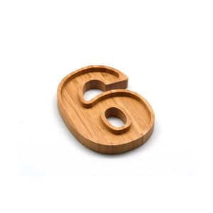 Bambusový servírovací tanierik Bambum Numero Six