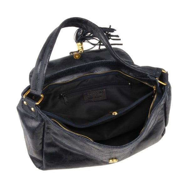 Kožená kabelka Diadema, tmavomodrá