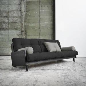 Rozkladacia pohovka Karup Indie Black/Dark Grey/Granite Grey