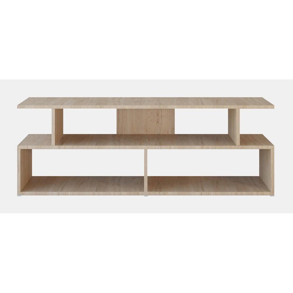 Hnedý TV stolík Robbie, šírka 120 cm