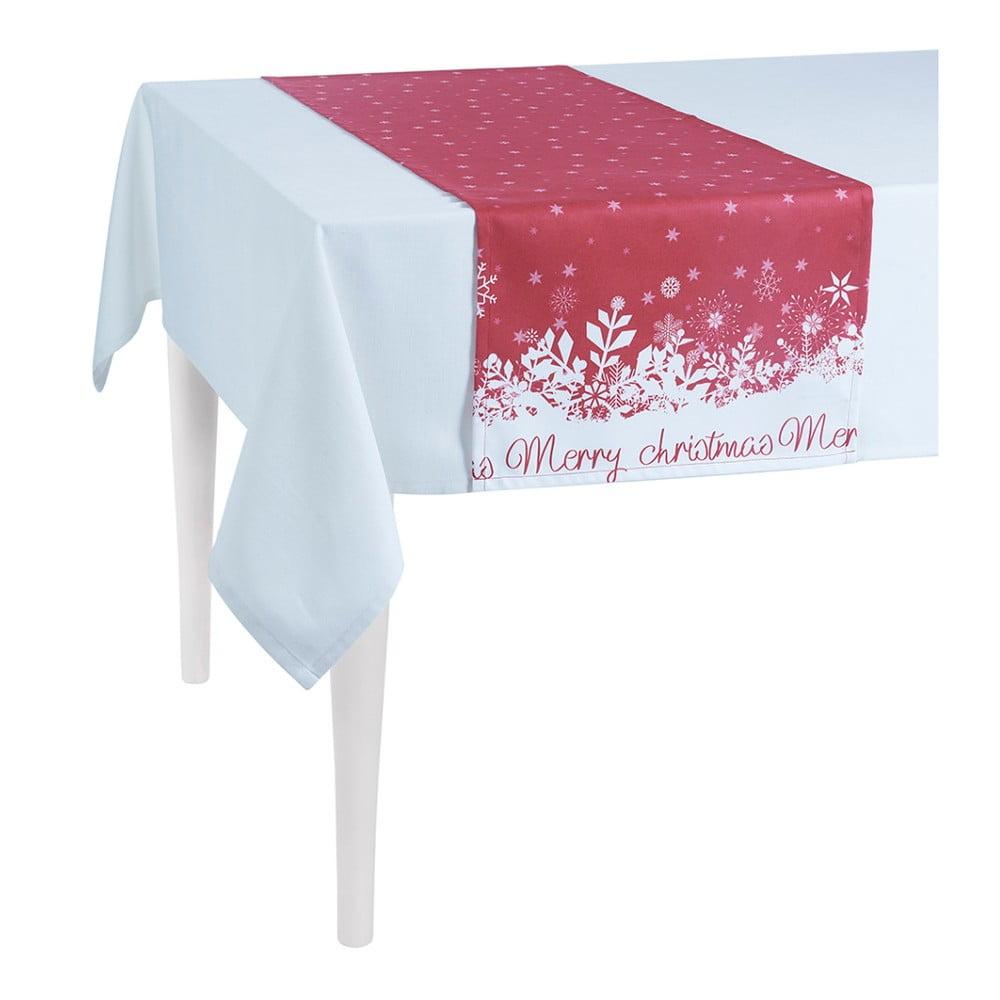 Červený vianočný behúň na stôl Apolena Honey Christmas, 40 × 140 cm
