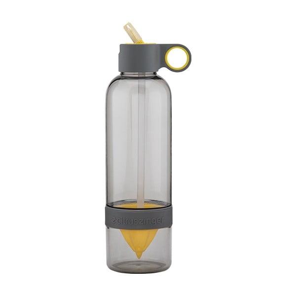 Citruszinger Sport, fľaša na vodu a ovocie, sivá