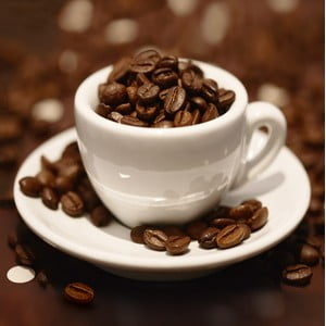 Sklenený obraz Cup of Beans, 30x30 cm