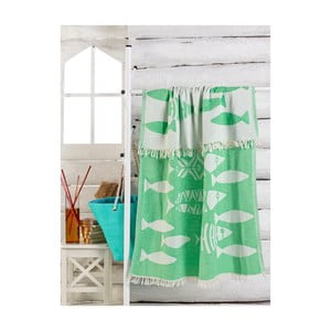 Zelený uterák Balik, 180 x 100 cm
