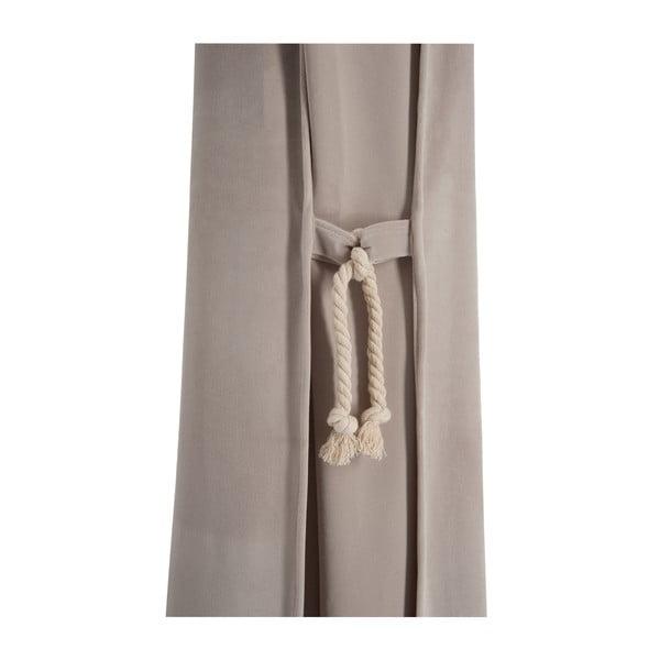 Béžový zamatový záves Velvet, 135x270 cm
