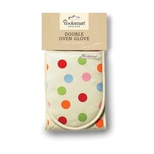 Dvojitá kuchynská rukavica z bavlny Cooksmart England Spots