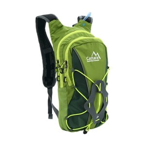 Zelený batoh s pitným vakom Cattara Hike, 10 l + 2 l