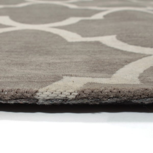 Bavlnený koberec Boho Grey/White, 150x210 cm