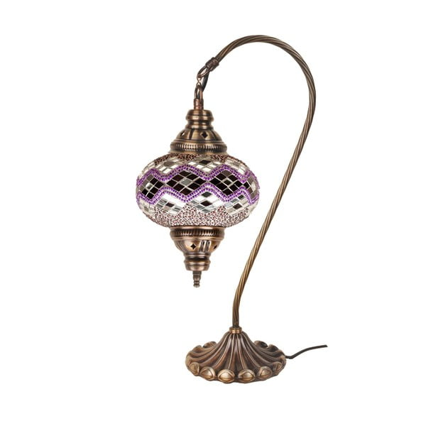 Sklenená ručne vyrobená lampa Fishing Orchid, ⌀ 17 cm