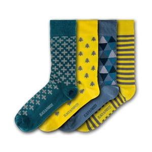 Sada 5 párov unisex ponožiek Black&Parker London Tresco Abbey, veľkosť 37 - 43