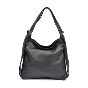 Čierna kožená kabelka Isabella Rhea Stella