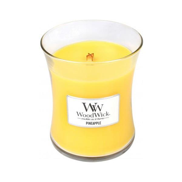 Vonná sviečka WoodWick v oválnej váze  Fresh Pineapple, 60 hodín