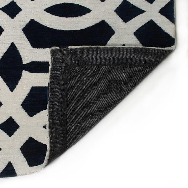 Modro-biely koberec InArt Boho Cotton, 120x180cm