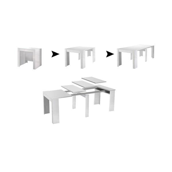Svetlosivý rozkladací konzolový stolík 13Casa Granada