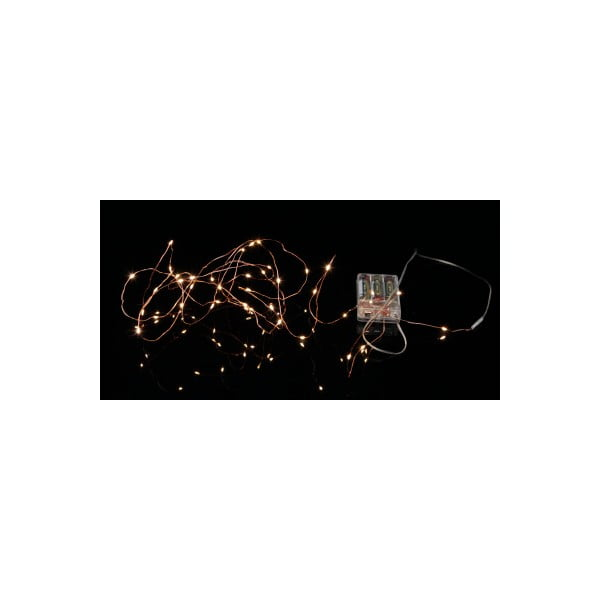 Svietiaca reťaz Best Season String Copper, 40 svetielok