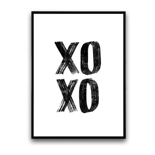 Plagát v drevenom ráme XoXo, 38x28 cm