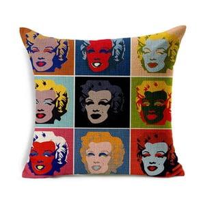 Obliečka na vankúš Marilyn Warhol, 45x45 cm