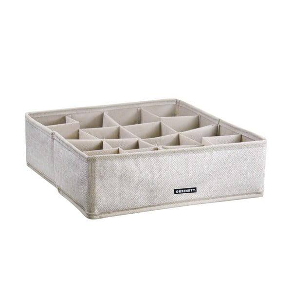 Úložný box s priehradkami Ordinett Linette