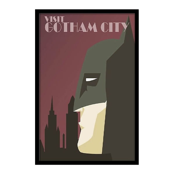 Plagát Visit Gotham City, 35x30 cm