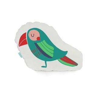 Bavlnený vankúšik Moshi Moshi Pretty Parrots, 40 x 30 cm
