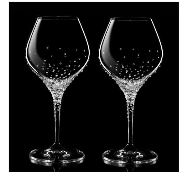 Sada 2 pohárov na biele víno Nemesis so Swarovski Elements v luxusnom balení
