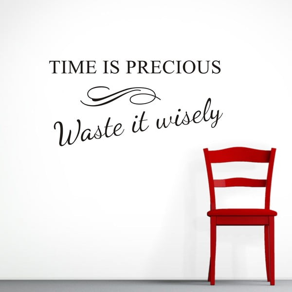 Dekoratívna samolepka Time, 30x60 cm
