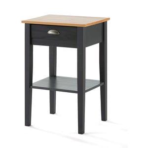 Sivý nočný stolík zborovicového dreva SOB Jayde