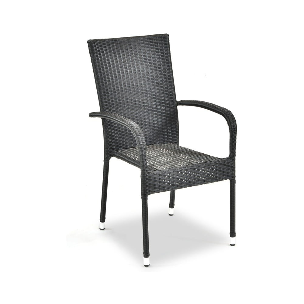 Záhradná ratanová stolička Timpana Frenchie v antracitovosivej farbe, výška 95 cm