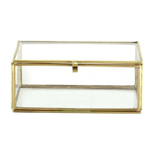 Set 2 sklenených boxov Brass