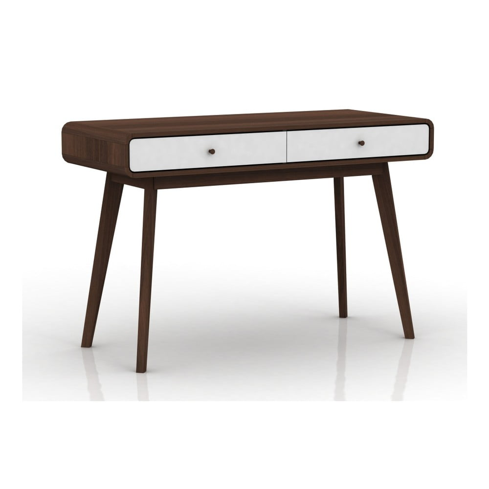 Hnedý pracovný stôl Støraa Caitlin