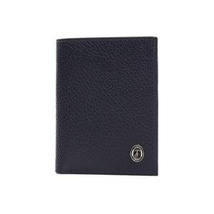 Modrá pánska kožená peňaženka Trussardi Symbiosis, 12,5 × 9,5 cm
