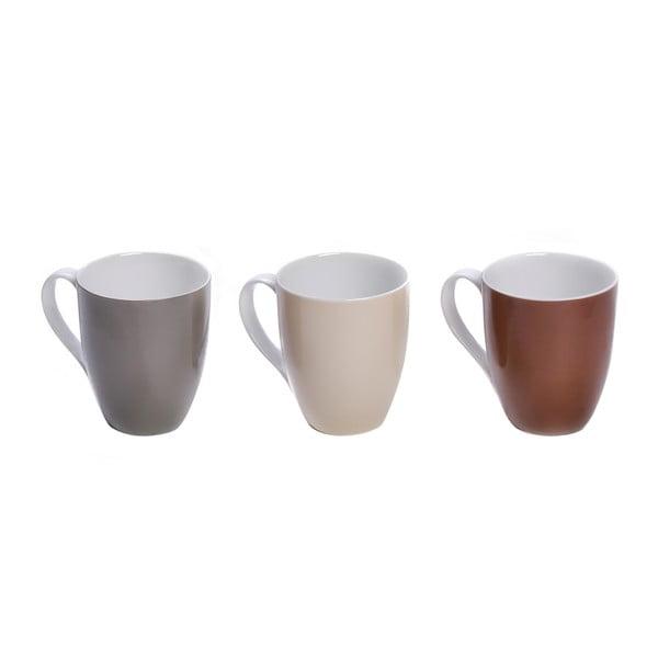 Sada 3 farebných porcelánových hrnčekov Sola Lunasol. 320 ml