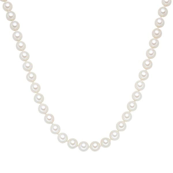 Perlový náhrdelník Muschel, biele perly 10 mm, dĺžka 60 cm