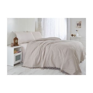 Prikrývka na posteľ Pique Brown, 220x240 cm