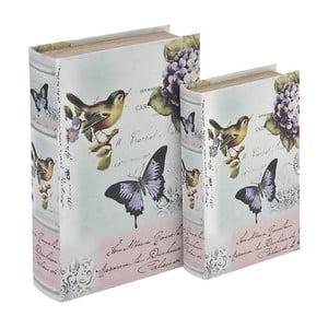 Sada 2 boxov Wooden Book