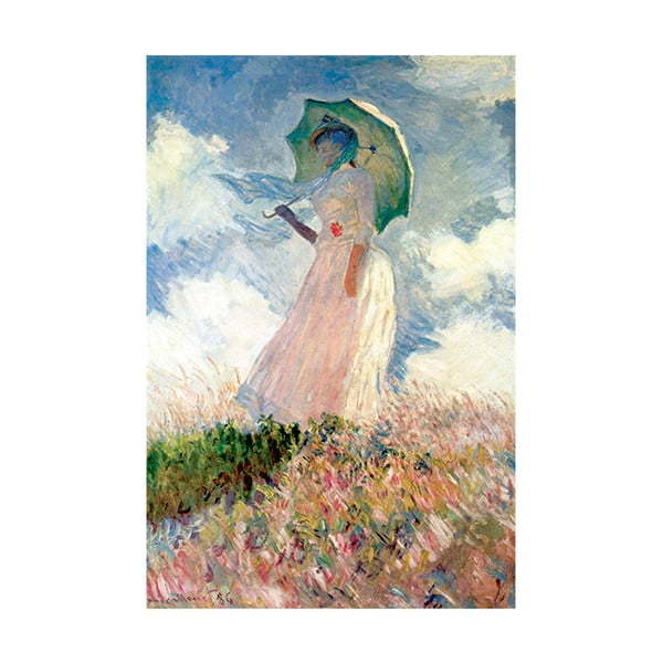 Obraz Claude Monet - Woman with Sunshade, 60x40 cm