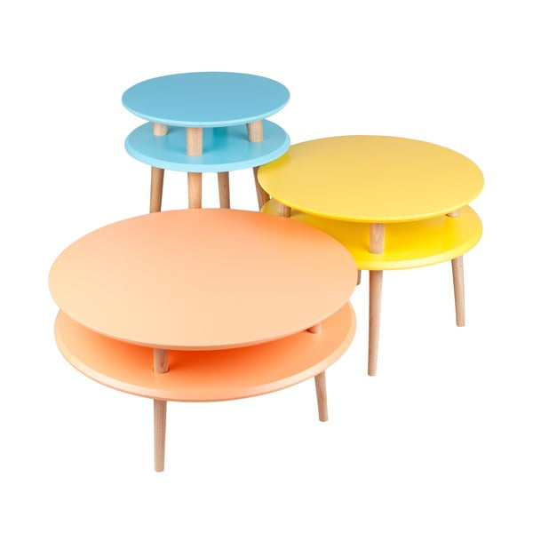Oranžový konferenčný stolík Ragaba UFO,Ø57cm